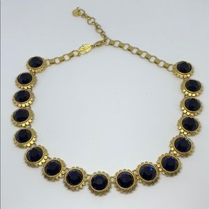 Spartina 449 goldtone sapphire rhinestone necklace